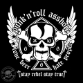 punk'n'roll asshole - love beer hate people - stay rebel stay tr